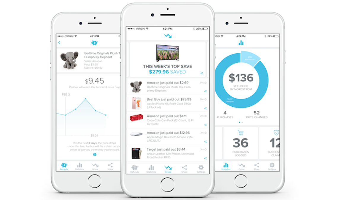 Paribus, the App that Automatically Refunds Price Drops, Comes to iPhone and Android