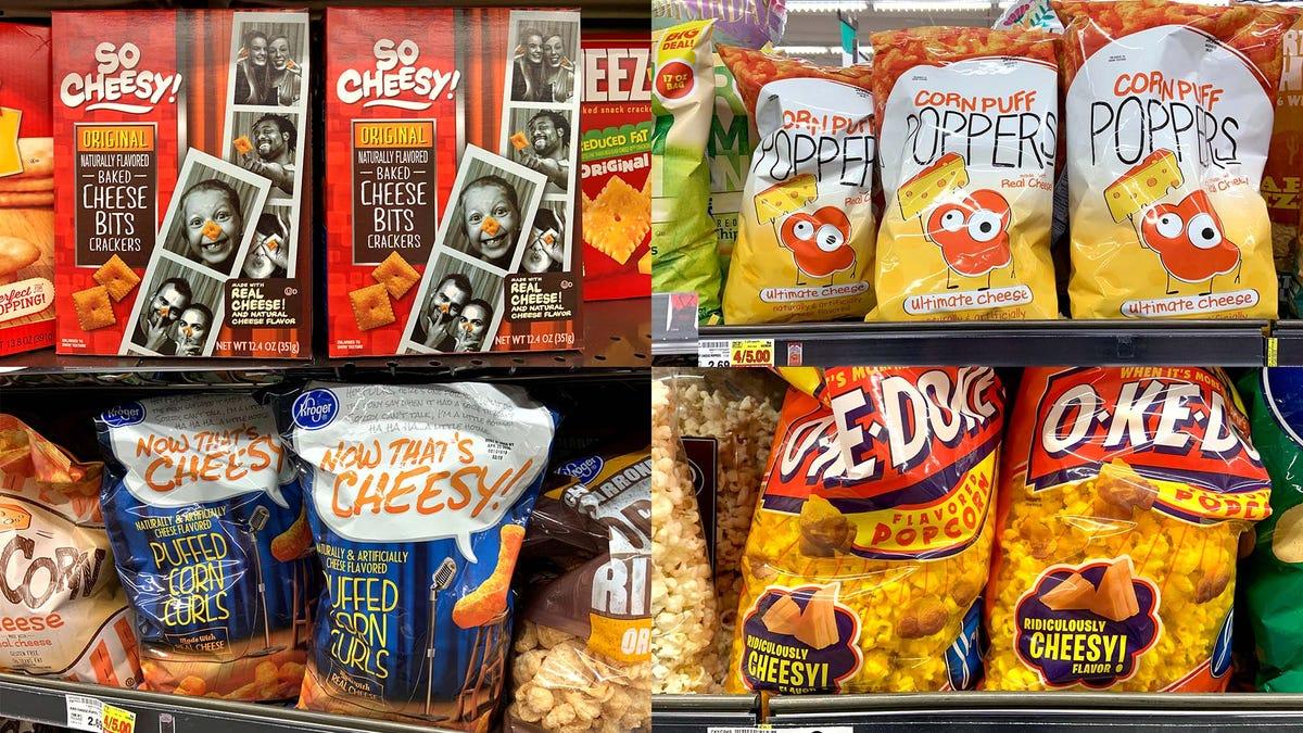 Snack-Industrie Läuft Weise Zu Eskalieren, Das Wort 'Käse'