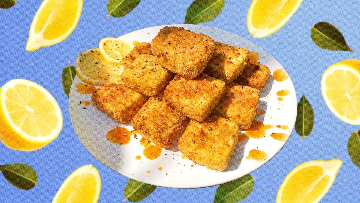 Lemon Pepper Tofu gives you (meatless) wings