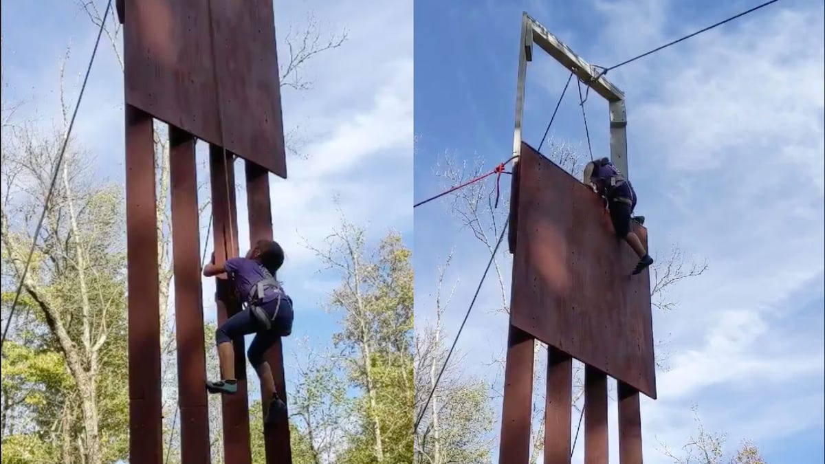 8-Year-Old Girl Climbs Replica of Border Wall Trump Claimed He Tested On 'World-Class' Climbers