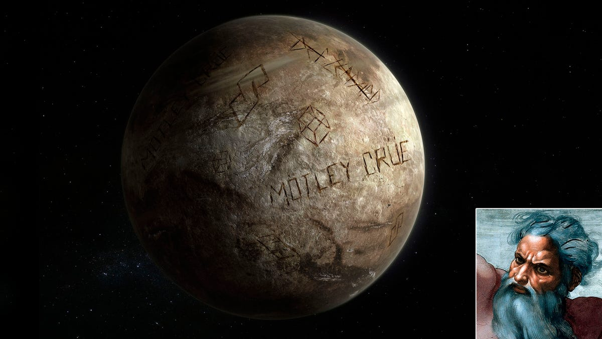 God Stumbles On Old, Beat-Up Planet That He Carved 'Mötley Crüe' All Over