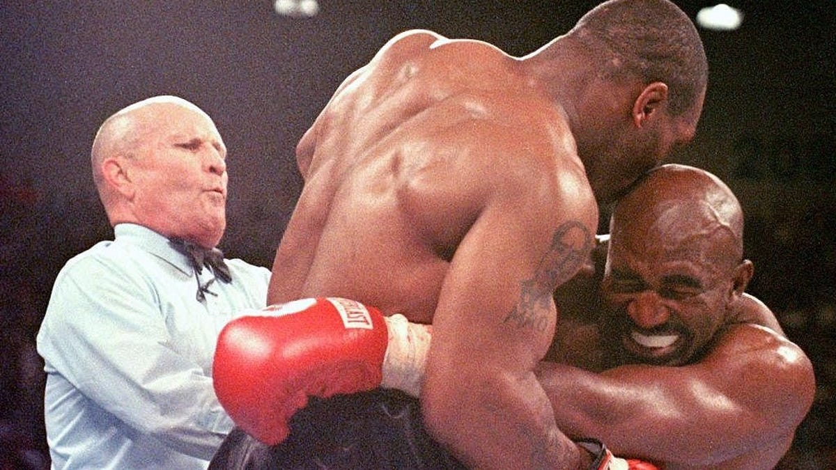58-year-old Evander Holyfield wants 54-year-old Mike Tyson - we don't need to encourage this during a pandemic