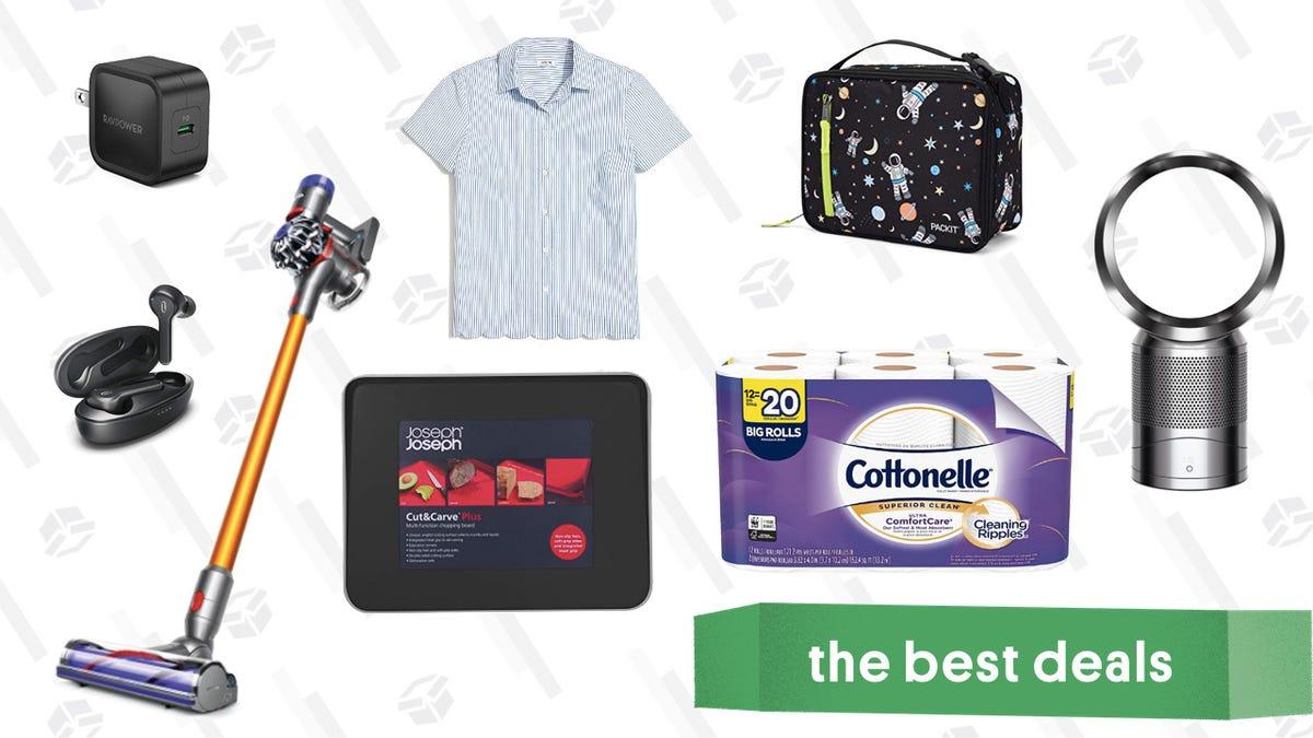 Saturday's Best Deals: Dyson V8 Cordless Vacuum, Cottonelle Toilet Paper, TaoTronics Earbuds, and More
