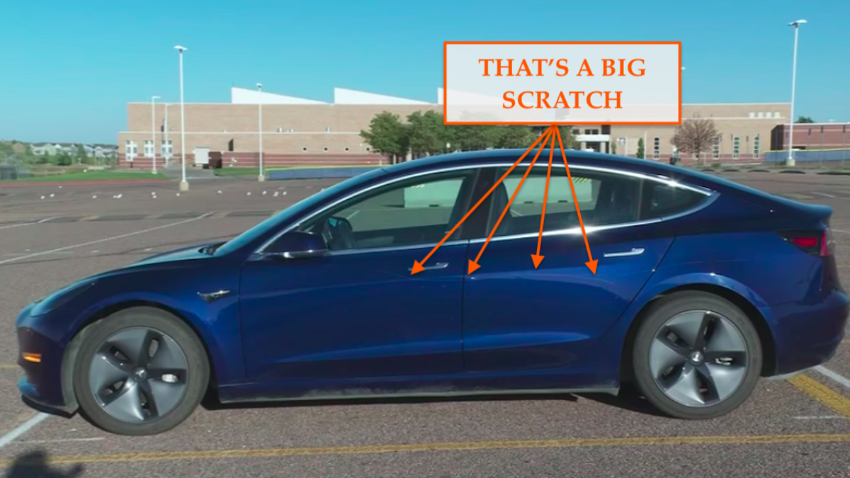 Watch Tesla's 'Sentry Mode' Use Its Cameras To Catch Someone Keying The Crap Out Of A Model 3