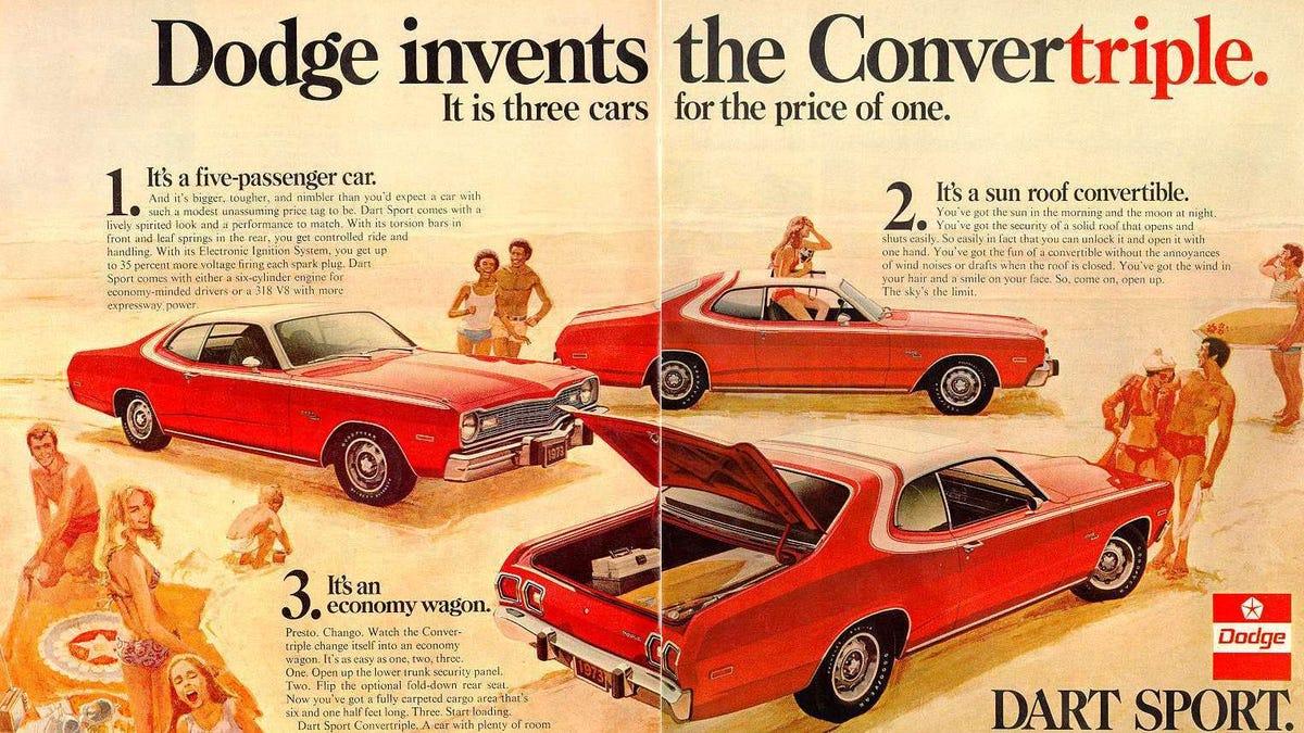 Car advertising 1970s