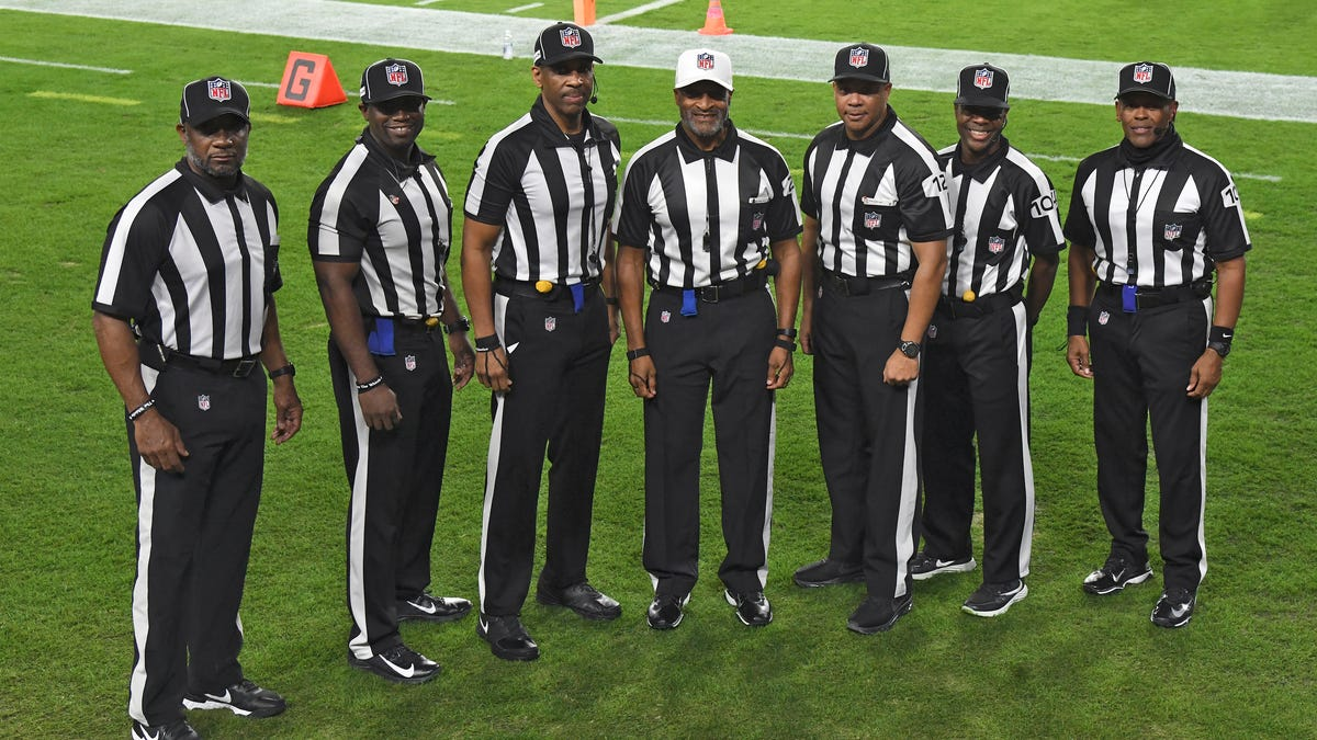 The NFL Makes History with All-Black Referee Crew During MNF