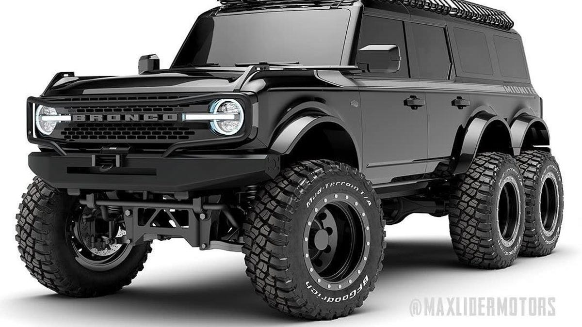 This Ridiculous Custom Ford Bronco May Be The Least Practical 6x6 Conversion Yet