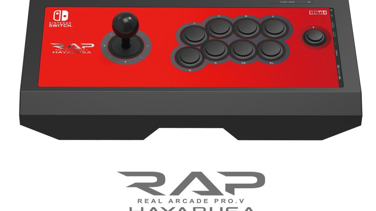 The Nintendo Switch is getting a fight stick. Japanese peripheral maker Hori will release a Hayabusa stick for the Switch. Details to come at a later date, and no word yet on an international release.