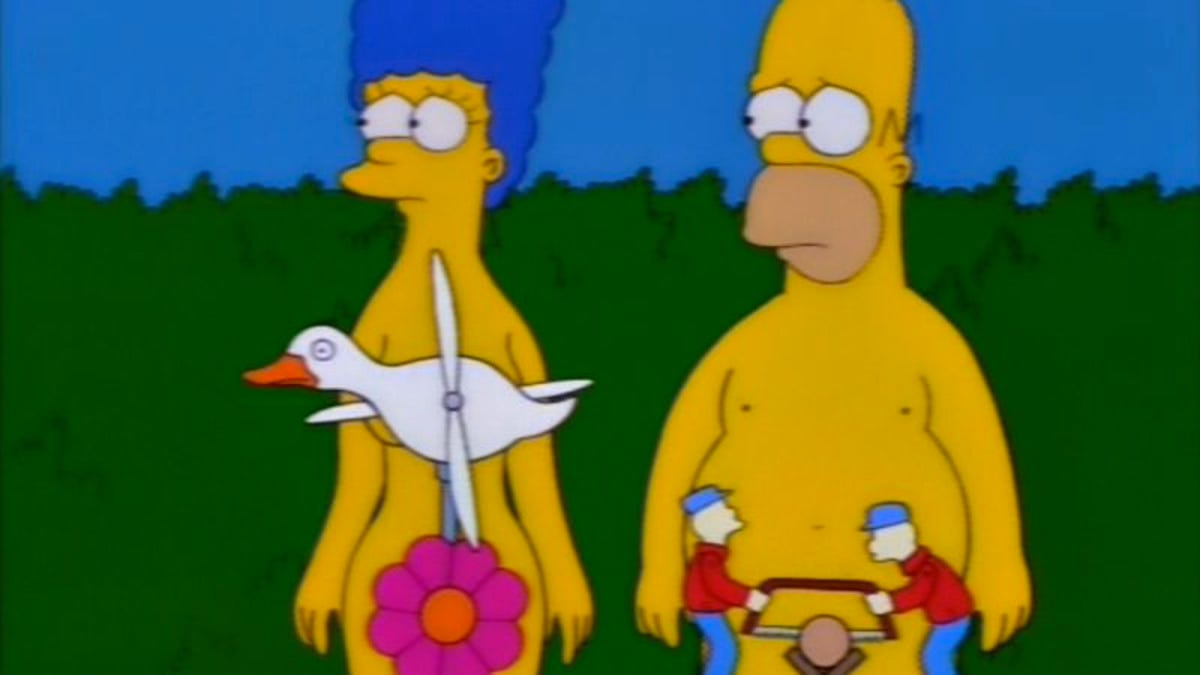 Image result for simpsons nude episode
