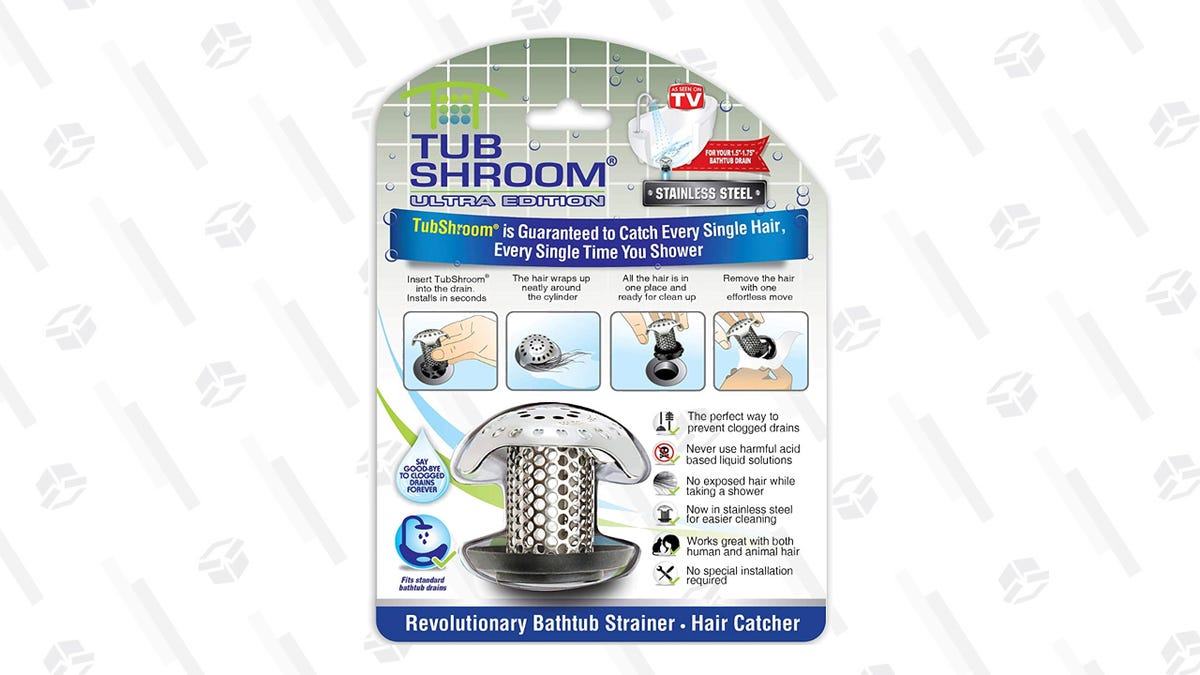 Stop Hair From Clogging Your Drain With This $7 Stainless Steel Tub Shroom