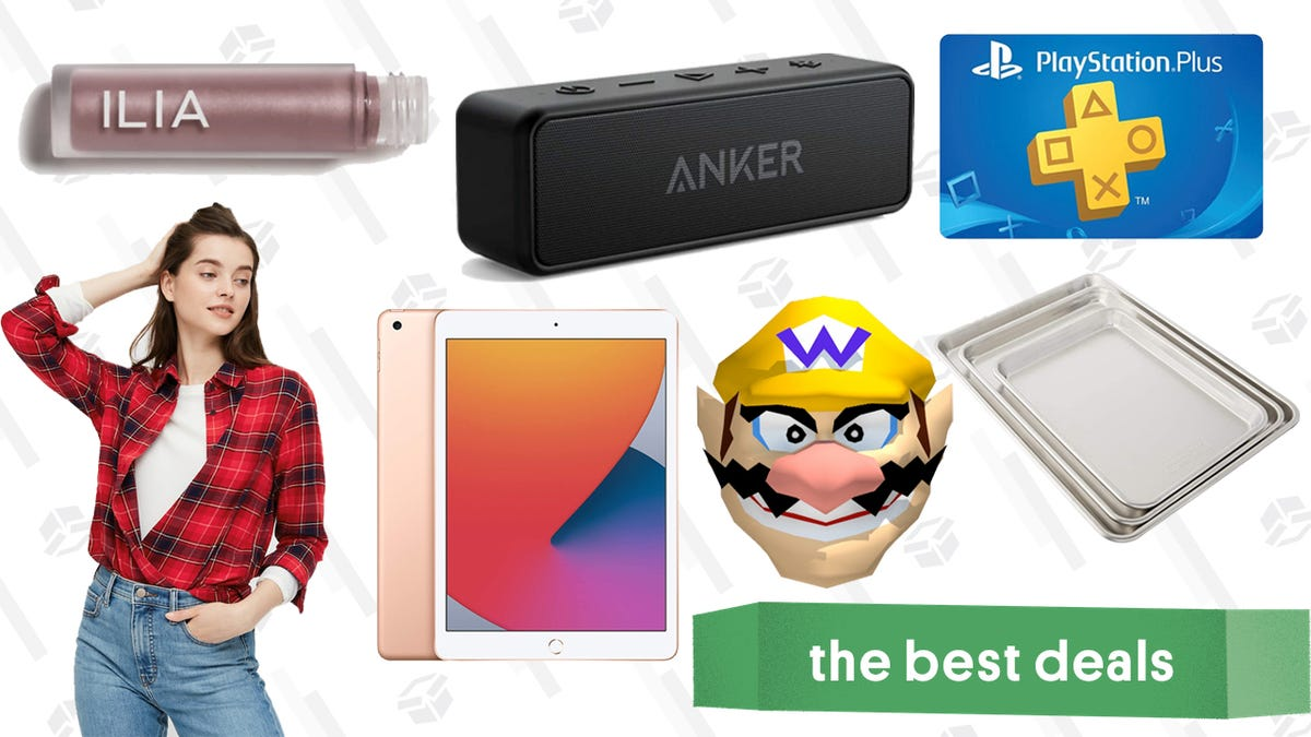 Wednesday's Best Deals: PlayStation Plus Subscription, New iPad, Anker Speakers, Nordic Ware Sheet Pans, UNIQLO Flannel, Ilia Chromatic Eye Tint, and More