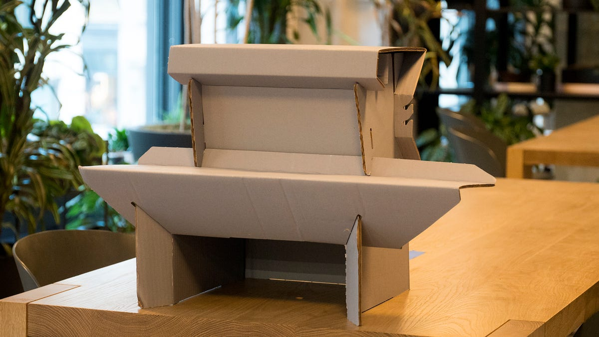 How My Mean Coworkers Shamed Me Out of Enjoying This Nice Cardboard Standing Desk