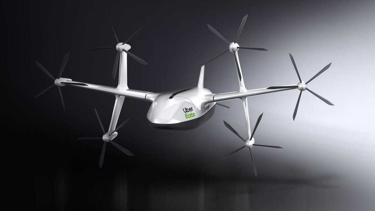 Uber's New Delivery Drone Has a Battery Life of Just 8 Minutes and Absolutely Reeks of Vaporware