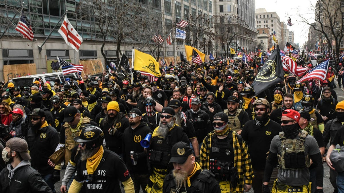 MAGA Marchers and Proud Boys Descend on D.C., Setting Fire to Churches' Black Lives Matter Signs and Getting into Stabbing Fights