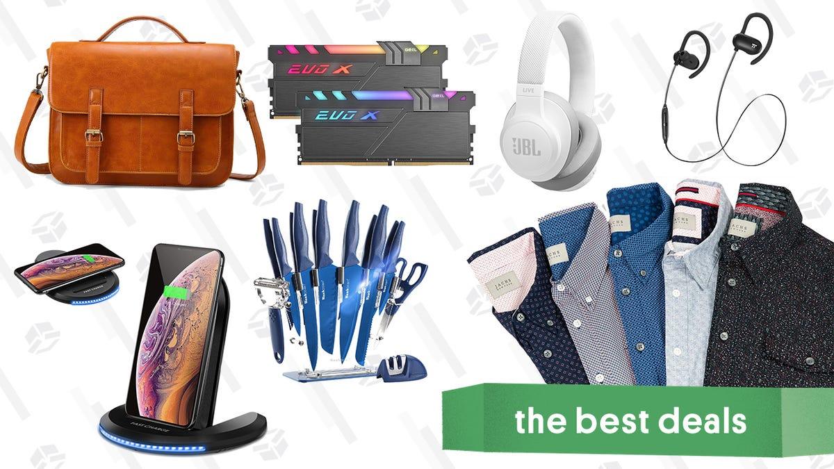 Monday's Best Deals: JACHS NY Men's Shirts, TaoTronics Earbuds, Faux Leather Messenger Bag, and More - RapidAPI