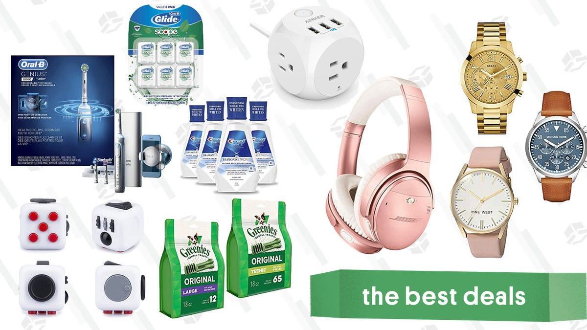 Monday's Best Deals: Oral-B Gold Box, Anker Headphones, Greenies, and More