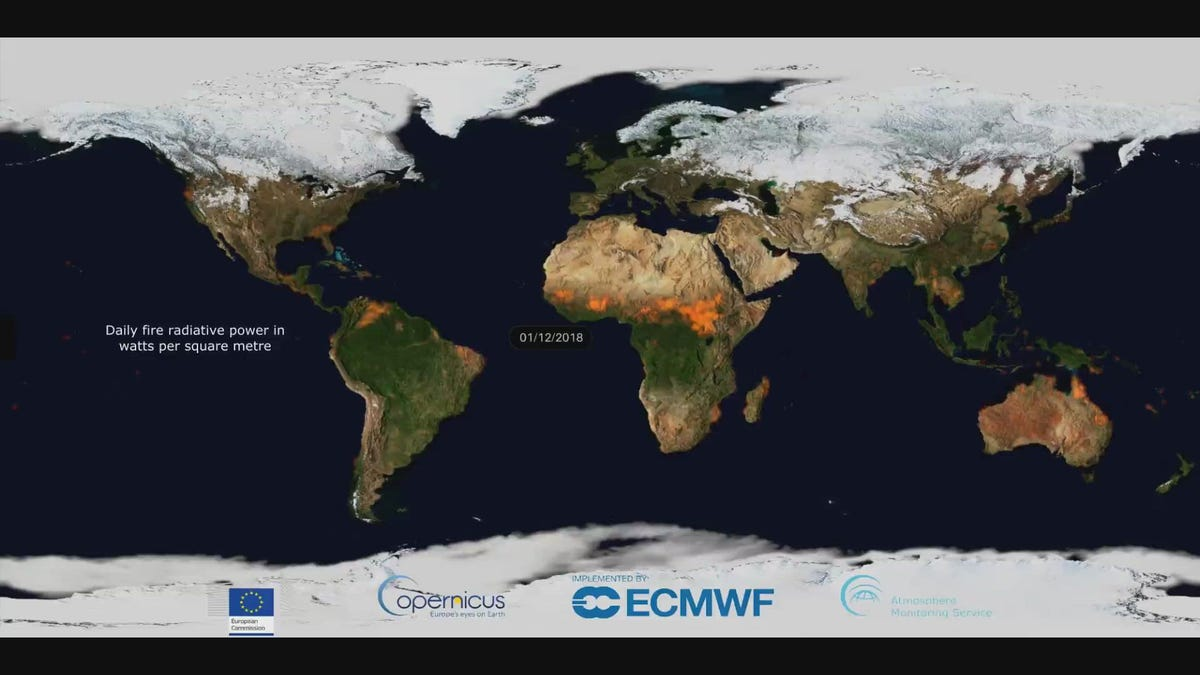 Watch Every Fire on Earth This Year in This Blazing Visualization