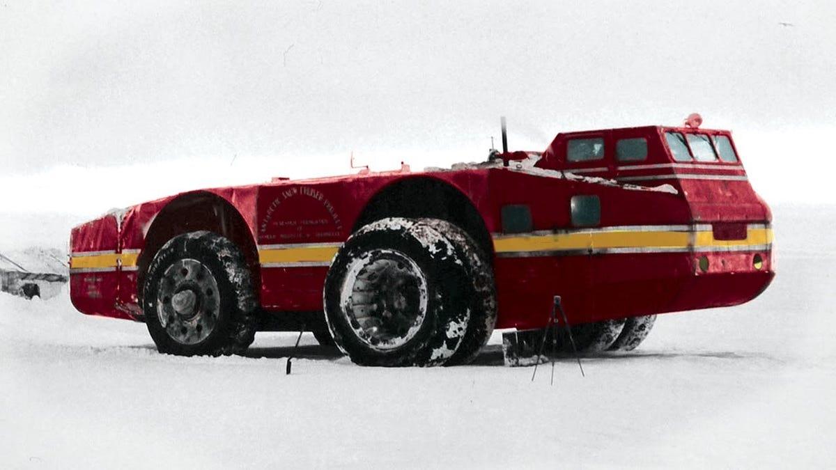 Hay un vehículo de exploración Antártida perdido en alguna parte