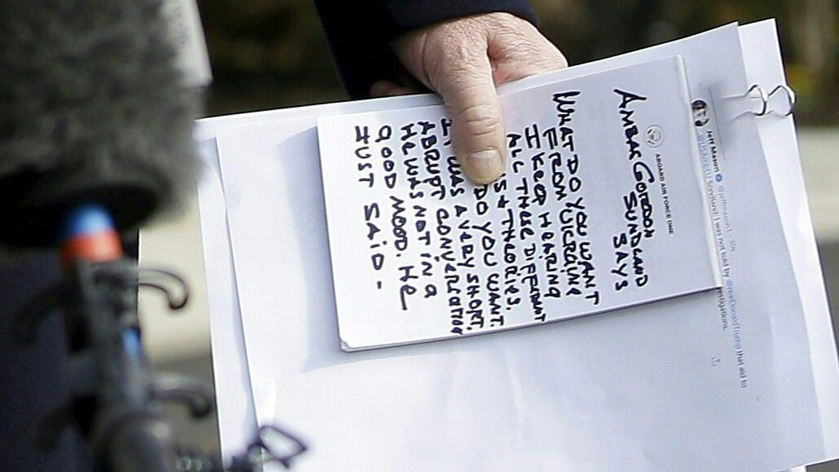 Here Is the Full Text of Donald Trump's Sharpie Lies for the Press