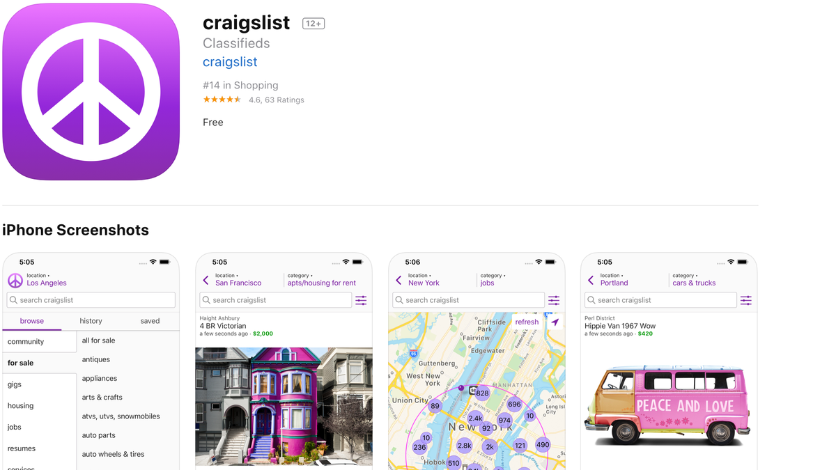 Craigslist Finally Gets an Official App thumbnail