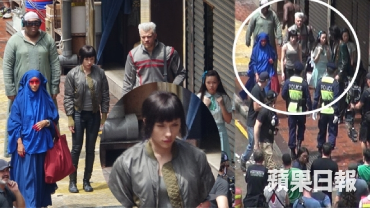 Scarlett Johansson Spotted In Ghost In The Shell Costume In Hong Kong Update