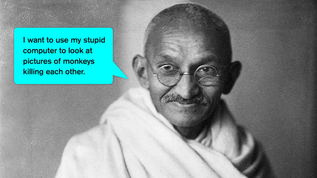 Beautiful: This Incredible Artist Imagined What Gandhi Would Say If He Had Lived Long Enough To Own A Computer