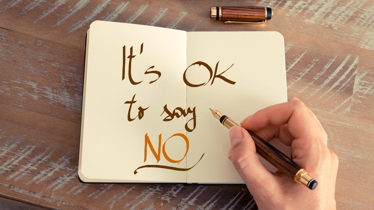 Why You Need 'Say No' Days