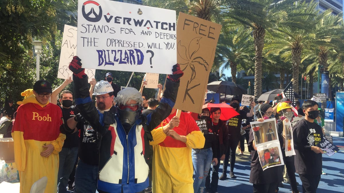 Hong Kong Protests Are Growing Outside Of Blizzcon