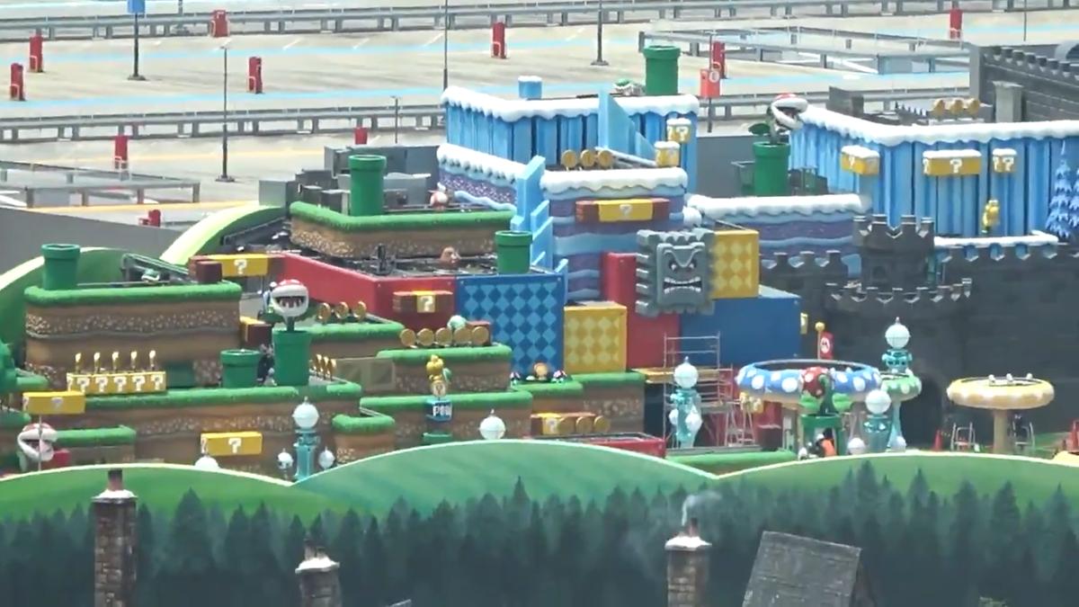 Graban el parque de atracciones de Nintendo desde un hotel (y no decepciona)