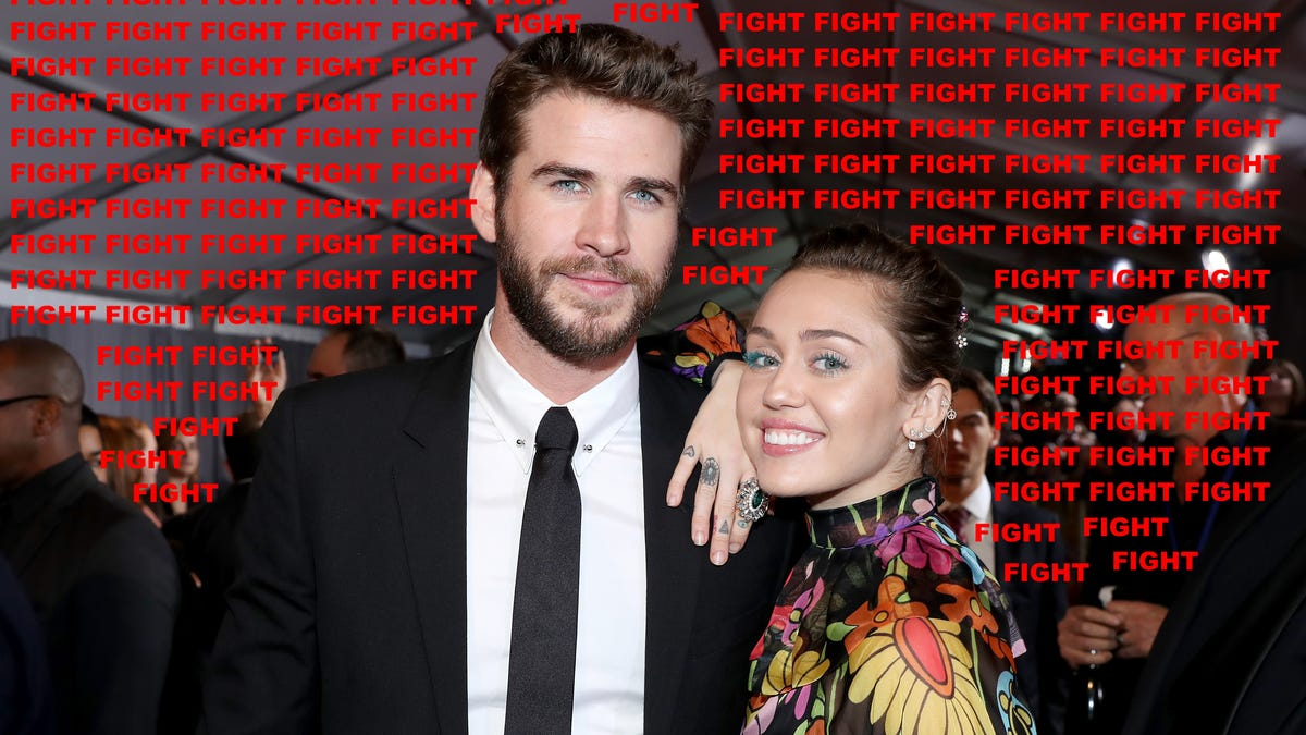 Liam Hemsworth and Miley Cyrus are Locked in a Sexy, Paparazzi Death Match