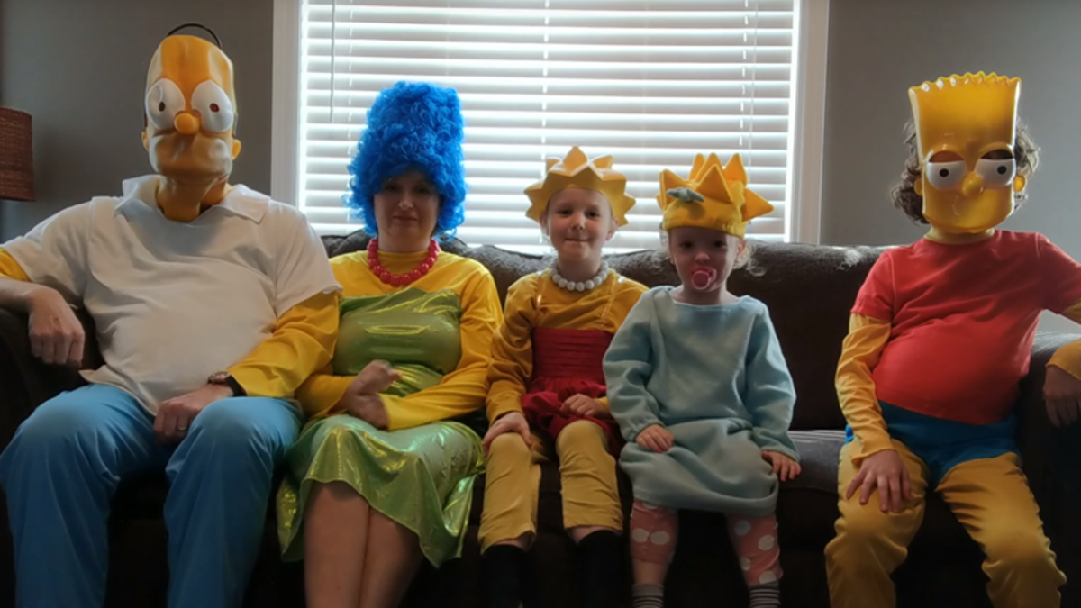 A Family in Lockdown Recreated The Simpsons Opening and It's Absolutely Joyful