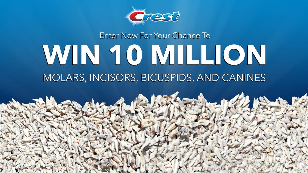 New Crest Sweepstakes Offers Chance To Win 10 Million Teeth