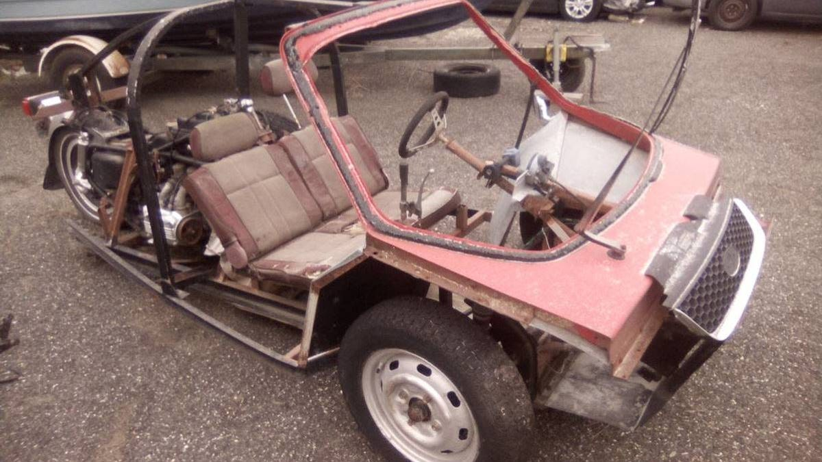 Can You Guess All The Vehicles Parts That Were Used To Build This Bizarre Craigslist Three-Wheeler?