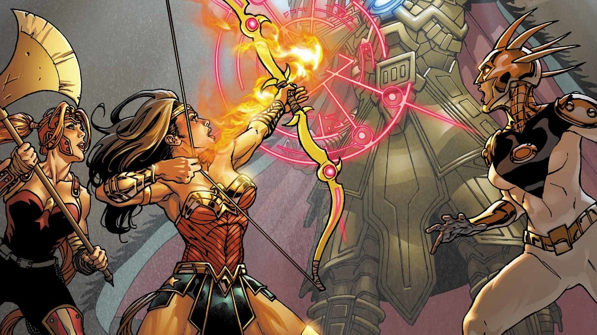 Wonder Woman and friends take on an Aztec god in this exclusive preview