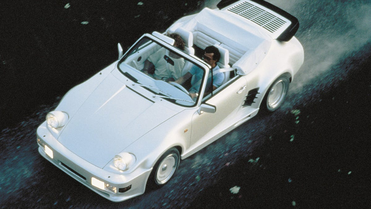Happy Friday! This will be me at exactly 5 p.m. today, fleeing the office in my 911 convertible done up by Rinspeed. Yes, I know the looks are extremely questionable. I'm far too rich to care what you think.
