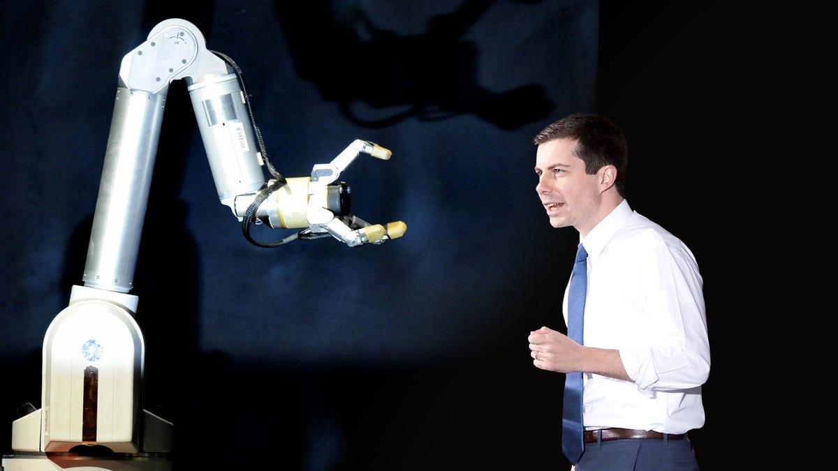 Znalezione obrazy dla zapytania: buttigieg robot