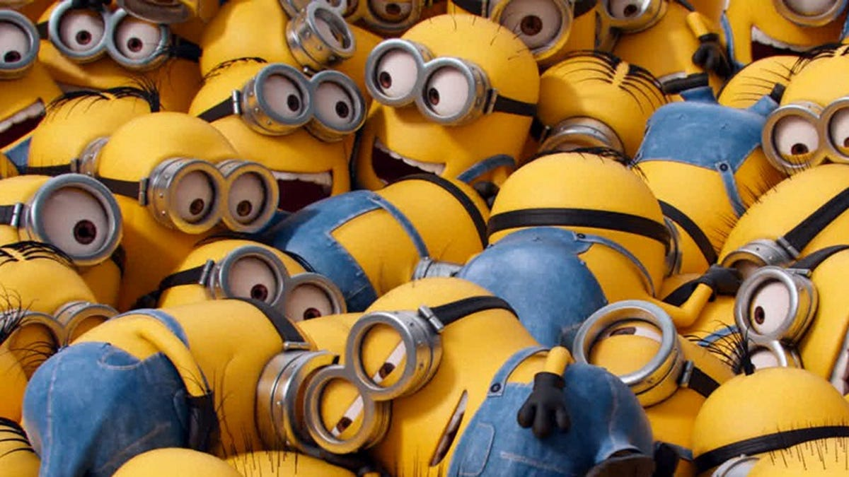 The Minions from Despicable Me caper through a forced franchise extension