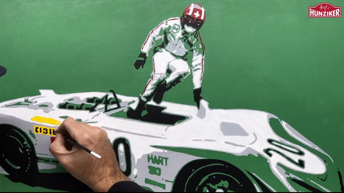 Jump Into 2020 With This Awesome Porsche Flunder Art Timelapse
