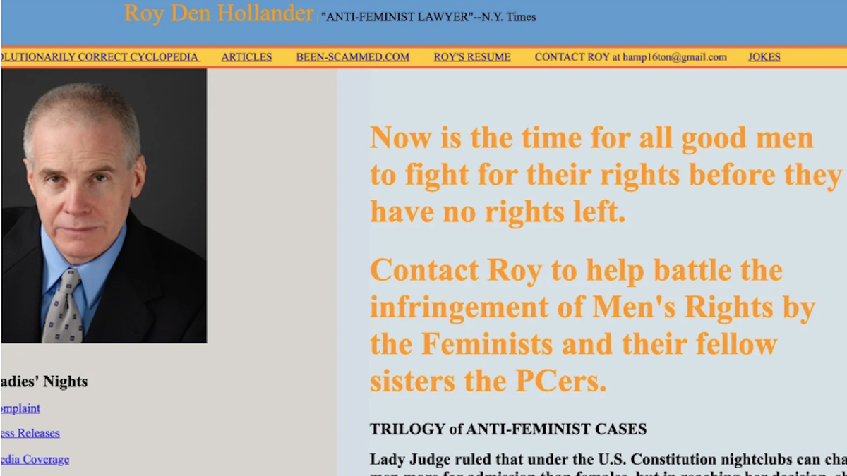 Roy Den Hollander Could possibly possibly possibly Additionally Be Linked to Loss of life of Rival Males's Rights Lawyer in California thumbnail