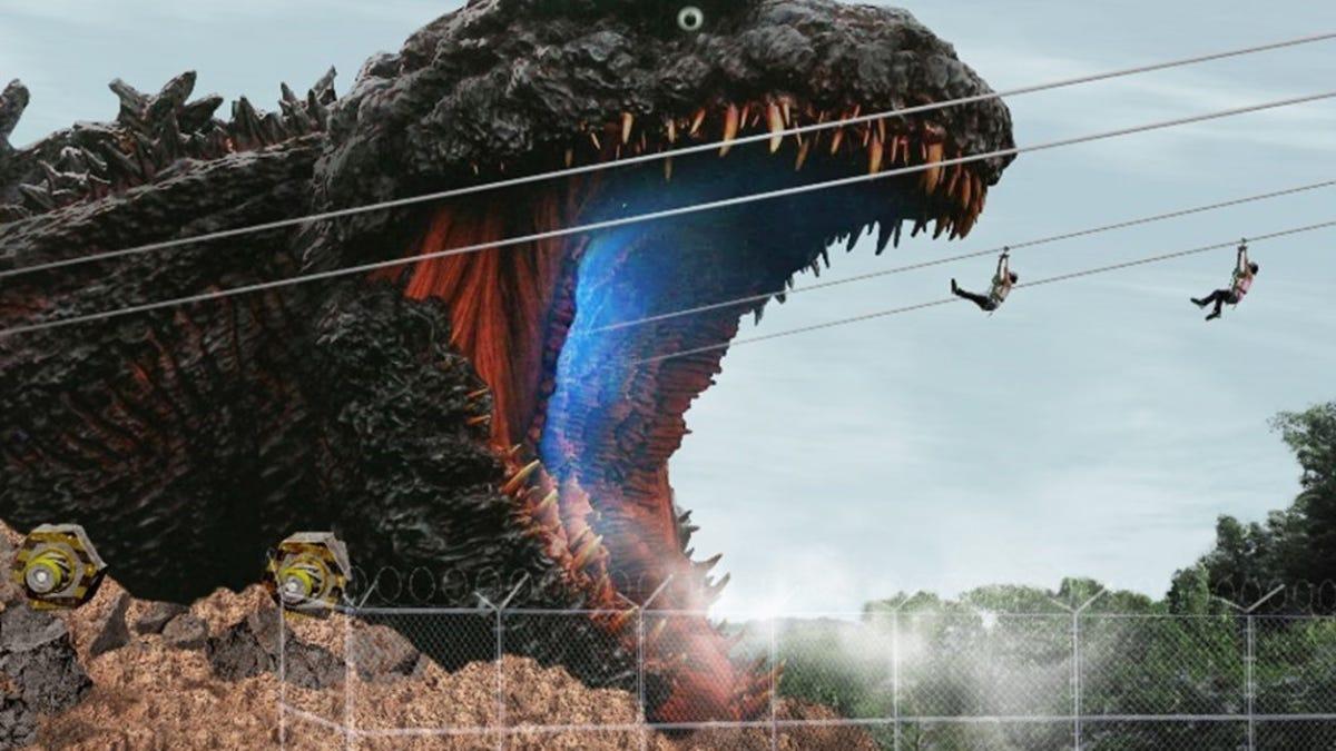 Museo de Godzilla tiene una tirolina hacia las fauces del monstruo