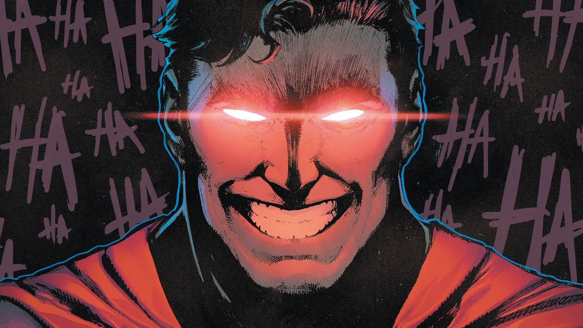 This Batman/Superman #3 exclusive infects the Man of Steel with Joker's toxin