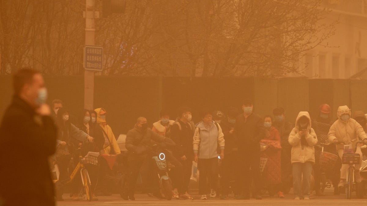 Beijing Is Choking on Bright Yellow Dust