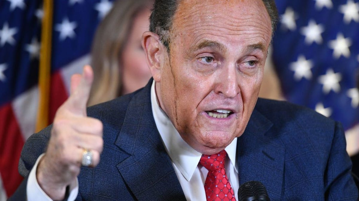 Either Rudy Giuliani Uses Bigen, or His Human Skin Glue Is Melting. Either Way, I've Got Questions