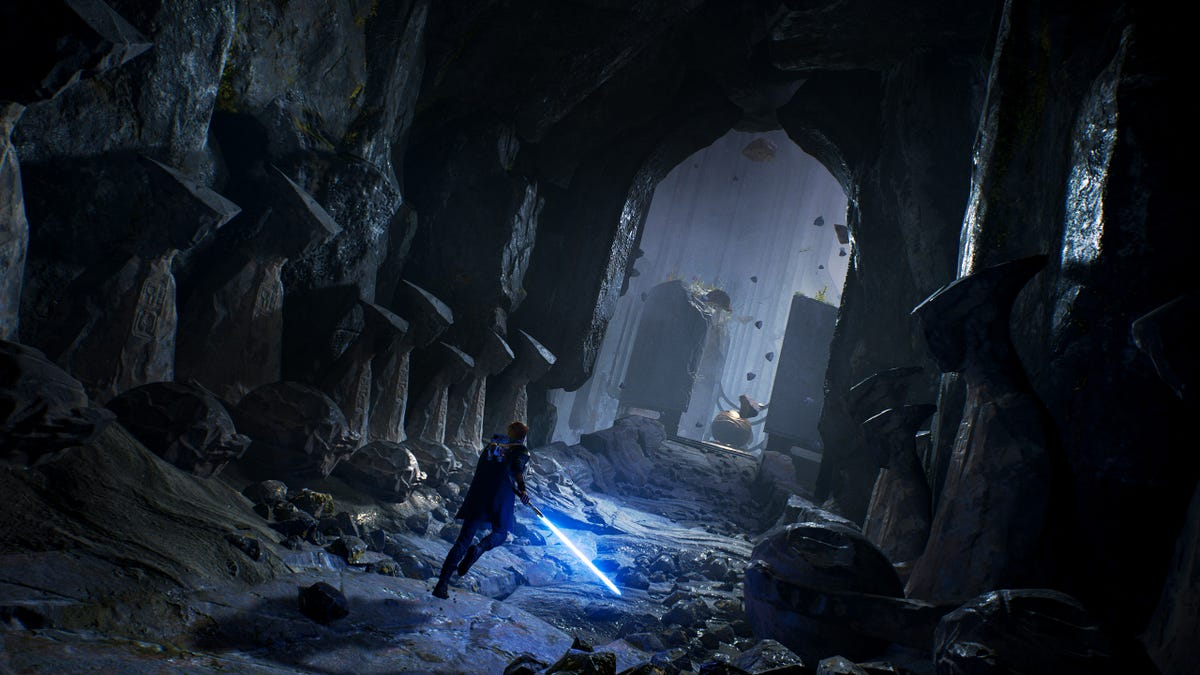 Star Wars Jedi: Fallen Order Has The Best 'Squeezing Through Narrow Passage' Moments