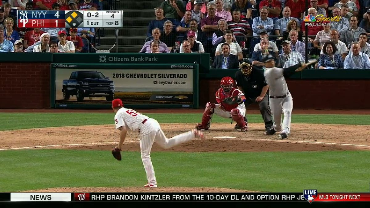Let's All Laugh At Dellin Betances Trying To Hit Major League Pitching