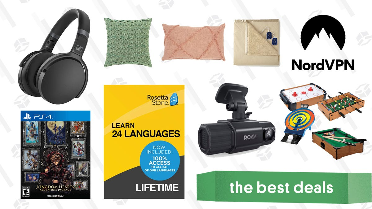 Wednesday's Best Deals: Sennheiser Bluetooth Headphones, WayFair Decorative Pillows, Kingdom Hearts All-In-One Package, Anker Dual Dash Cam, and More