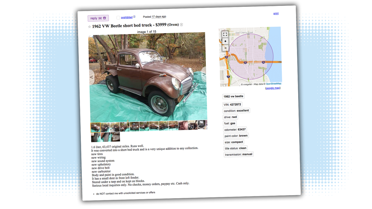 Classic vw beetle for sale craigslist
