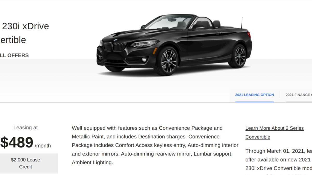 Why Do Brands Advertise Lease Deals For Cars That Don't Exist?