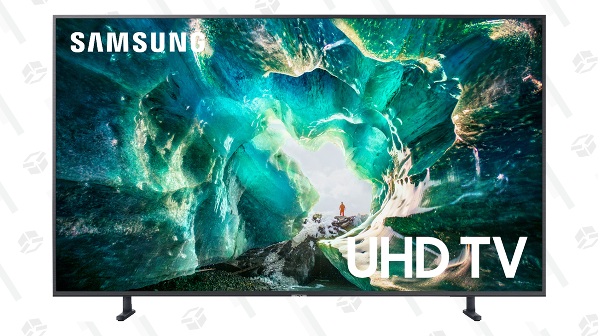 "Save $600 on an 82"" Samsung 4K TV and Worry About How It'll Fit in Your Entertainment Center Later"