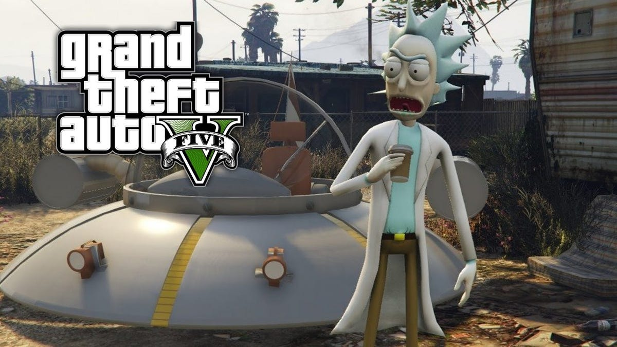 The Rick And Morty Mods For GTA V Are Way Too Real